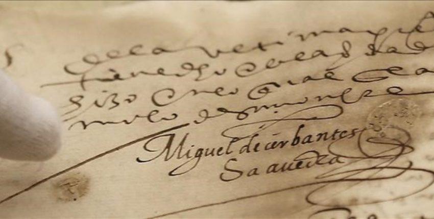 Aparece un documento con una firma de Miguel de Cervantes en Sevilla